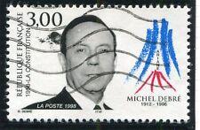 TIMBRE FRANCE OBLITERE N 3129 MICHEL DEBRE / Photo non contractuelle
