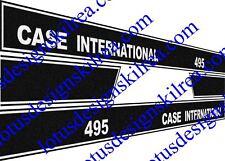 Cas International 495 tracteur stickers / autocollants