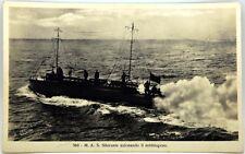 Cartolina Marina - M.A.S. Silurante Azionando Il Nebbiogeno - Non Viaggiata