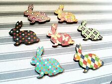 Bunny Cabochons Easter Bunny Assorted Easter Embellishments Rabbit Animal 4 pc