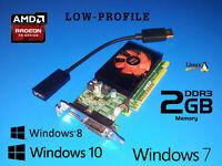 Dell Optiplex 7010 7020 7040 7050 7060 7070 2GB Low-Profile Video Card + HDMI