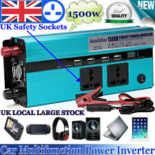 Hot!1500/3000W In Car Power Converter Inverter Electronic Charger 12V DC-230V AC