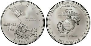 2005-P PR70 DCAM slab by ICG 230th Anniversary of the Marine Corps 90% Silver.