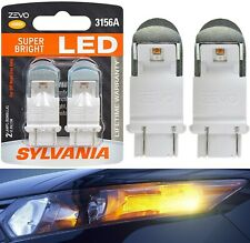 Sylvania ZEVO LED Light 3156 Amber Orange Two Bulbs Rear Turn Signal Upgrade OE
