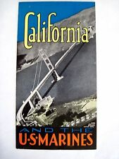 """Exceptional 1939-40's """"California and The US Marines"""" Booklet - SF World's Fair*"""