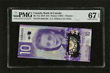 2018 Canada Bank of Canada BC-77a 10 Dollars PMG 67 EPQ Superb Gem UNC