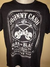 Johnny Cash Official Man In Black Guitars Tennessee Three Large T Shirt 2013