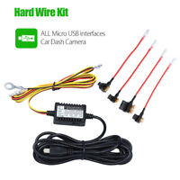 Universal Micro USB Hardwire Fuse Kit 12V to 5V Vehical CHARGER Hot For Dash Cam