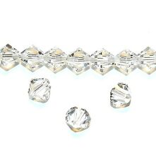 SCB511f Crystal Clear 6mm Xilion Faceted Bicone Swarovski Crystal Beads 24pc