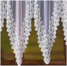 WHITE NET CURTAIN PANEL - DIFFERENT SIZES SMALL LARGE WINDOWS DECORATION