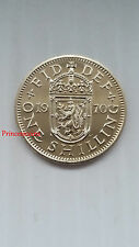 GB 1970*UNC*LAST ISSUED ELIZABETH II PROOF SCOTTISH ONE SHILLING COIN-KM#905