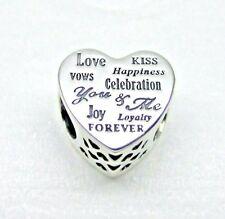 Authentic Pandora Celebration Heart Charm W/ Pandora TAG & HINGED BOX #792060