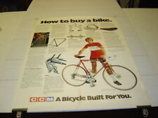 1 CCM genuine used 1970s Bicycle Sales  Poster.How to buy a Bike.Folded.
