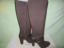 BCBGeneration Deans2 8.5M Brown Leather Tall Zip Boots NIB Really Nice & Cute!