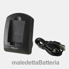 Carica Batteria USB compatto Digibuddy  Canon Digital IXUS 115 HS 120 IS 130 (RB