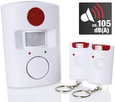 Bewegungsmelder mit Alarm-Funktion Hausalarm mit 2x IR Fernbedienung Alarmanlage