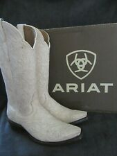 ARIAT 10027236 Sterling Crackled White Leather Boots Shoes US 9 M EUR 40 NWB