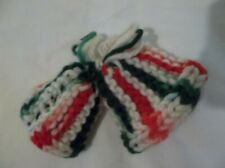 New ListingChristmas Ornament 2 Bells Knitted