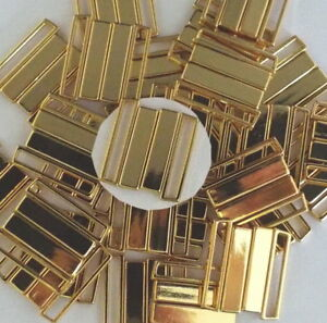 Bikiniverschluß Bikini Verschluß Metall Steg Breite 25mm Farbe gold Verschluss