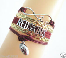Infinity Love REDSKINS American Football Soccer Team Charms Sports Bracelet
