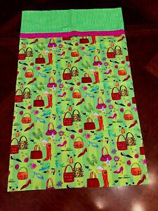 Handmade Standard Size Pillowcase Green Teen Girl
