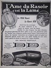 PUBLICITÉ 1920 DURHAM DUPLEX L'AME DU RASOIR C'EST LA LAME - ADVERTISING