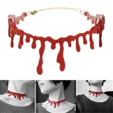 Horror Blood Red Choker Necklace Halloween Frankenstein Punk Rock Jewelry New