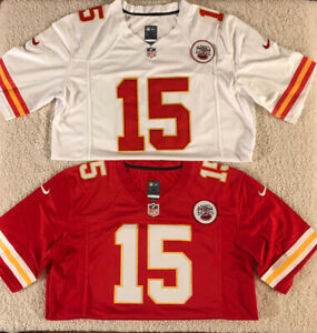 NWT #15 Patrick Mahomes Kansas City Chiefs MEN'S Red or White Stitched Jersey