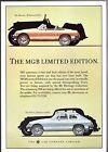 MG MGB LE Roadster & GT Limited Editions 1981 UK Market Single Sheet Brochure