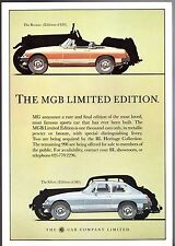 MG MGB LE Roadster & GT Limited Edition 1981 UK Market Leaflet Sales Brochure