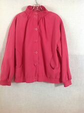 Women's Vintage Jacket Halston For Misty Harbor Pink 14 Reg Rain/Stain Repellant