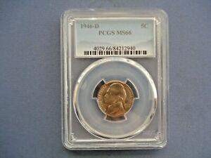 1946 D USA - 5 Cents - Jefferson Nickel 1st portrait- Copper-Nickel - 2940