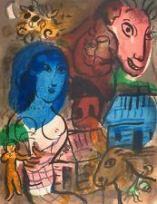 Marc Chagall, Antilopa passenger 1969, Hand Signed Lithograph