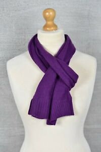Marks & Spencer Autograph purple 100% pure cashmere rectangle scarf unisex