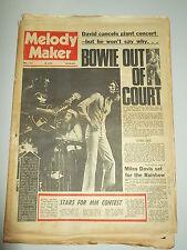 MELODY MAKER 1973 JUNE 2 DAVID BOWIE MILES DAVIS ROGER DALTREY NAZARETH