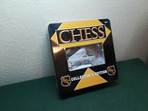 NHL Chess Collectors Edition 2003 Tin Box and Pieces ONLY, No Board, pre-owned