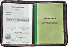 Jagdschein Etui grün Nadelfilz Wbk Etui Jagdscheintasche Mappe Dokumententasche