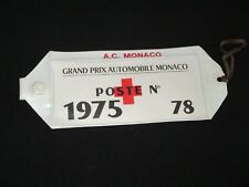 BRASSARD ARMBAND 1975 GRAND PRIX  MONACO F1 FORMULE FORMULA 1 ACM no programme