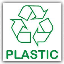 Adesivo in plastica 1x - - Recycle Logo Firmare, riciclaggio, rifiuti, più leggero, vasi, vasche, CONTENITORE