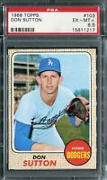 1968 Topps #103 Don Sutton PSA 6.5 EX-MT+