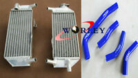 For HONDA CRF250 CRF250R 2010-2013 11 12 Aluminum Radiator & Blue Silicone Hose