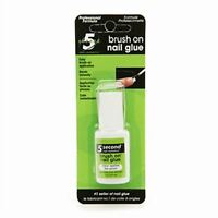 5 Second Brush On Nail Glue 0.2 oz (Pack of 2)