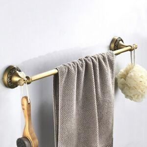 Antique Brass Bathroom Wall Mounted Single Towel Rail Holder Rack Towel Bar