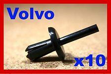 10 Volvo bumper fender cover push rivet type plastic fastener clips
