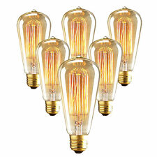 Portable Vintage Edison Bulbs Warm Light Lamp Retro Lights 110V E26 40W ST64