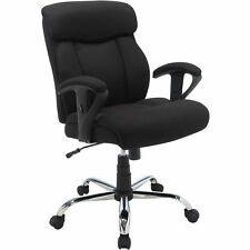 Good Black Mesh Fabric Big And Tall Manager Chair Serta Office Furniture