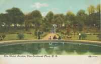 "USA 1910 VFU coloured pc ""The Dutch Gardens, Van Cortlandt Park, N.Y."""
