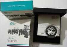 2018 An Act To Unite Peoples Act Silver Proof 50p Coin Issued By Royal Mint