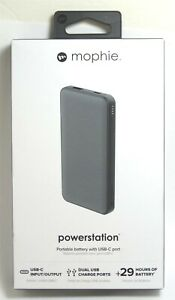 mophie Powerstation 8,000 mAh Portable Charger for Phone/tablet/USB-C - Gray