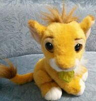 VINTAGE 1993 DISNEY BABY SIMBA LION KING PURRS STUFFED ANIMAL PLUSH TOY PURRING